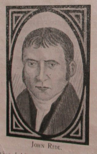John Ride | Handbook of the Primitive Methodist Conference 1923; Englesea Brook Museum