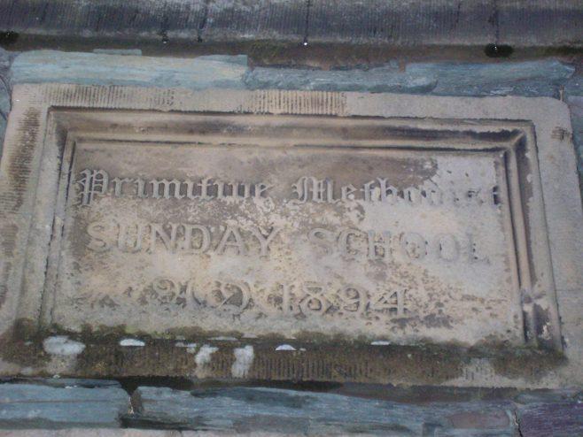 Keswick, PM Chapel, NewStreet, school date plaque, 09.11.2013 | G W Oxley