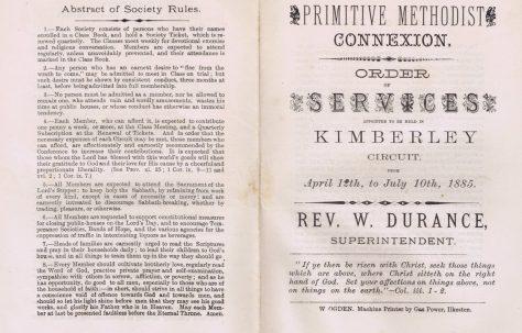 Kimberley Circuit 1885 Q2