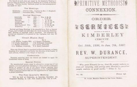 Kimberley Circuit 1886 Q4