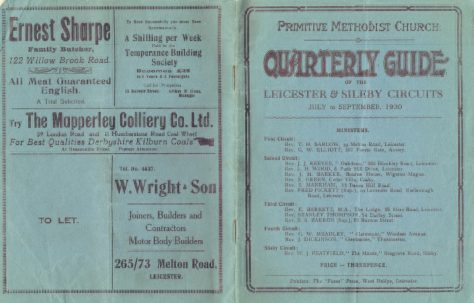 Leicester & Sileby Circuits 1930 Q3