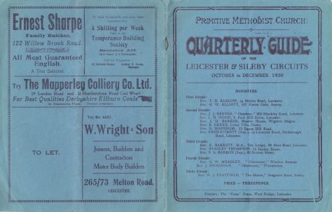 Leicester & Sileby Circuits 1930 Q4