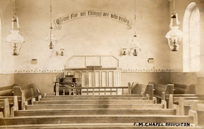 Interior, Little Broughton PM Chapel, Lincolnshire | Newcastle upon Tyne District Archives