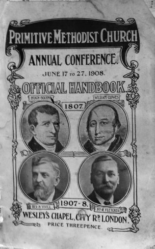Cover of the 1908  Primitive Methodist Conference held in London | Englesea Brook Museum collection