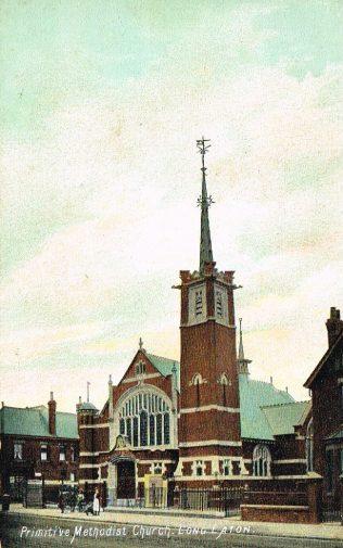 Long Eaton Primitive Methodist Church, Derbyshire | postcard belonging to Steven Wild