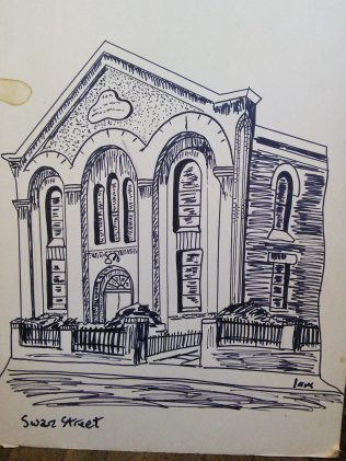 Loughborough Swan Street Primitive Methodist chapel | Sketch by Alfred Mosley