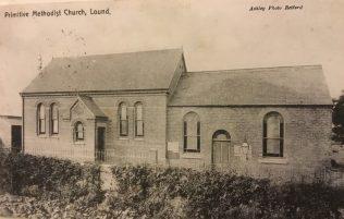 Lound Primitive Methodist chapel   postcard belonging to Revd Steven Wild
