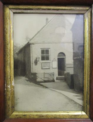early picture of Lowdham Primitive Methodist chapel with cottage immediately in front | Christopher Hill 2016; from a picture in the Sunday School
