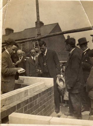 Stone laying for new chapel 1922