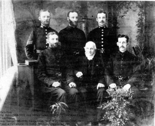 George with five of his sons who joined the MET, c1891