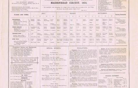 Maidenhead Circuit Primitive Methodist Preachers' Plan