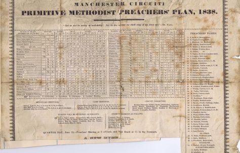 Manchester Circuit: Primitive Methodist Preachers' Plan