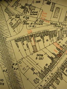 Extract from 1898 OS map | Harpenden Local History Society archives
