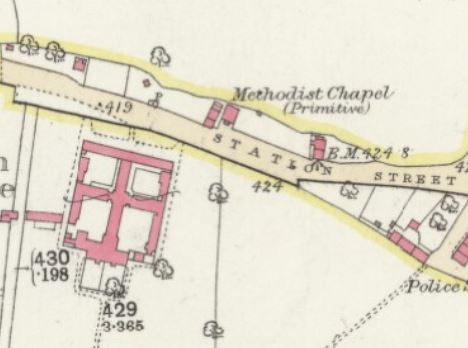 Market Bosworth PM Chapel OS 25 inch Leics. xxix.15 | Reproduced with the permission of the National Library of Scotland (Map images website)