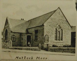 Matlock Moor Primitive Methodist chapel from a postcar dated between 1901 and 1909 | Englesea Brook Museum picture and postcard collection