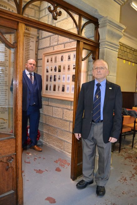 Unveiling the new memorial | Pictures supplied by Andy Wade, of the Men of Worth Project.