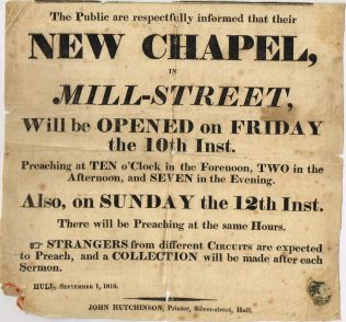 Hull; Mill Street Primitive Methodist Chapel (later West St) | Englesea Brook Museum