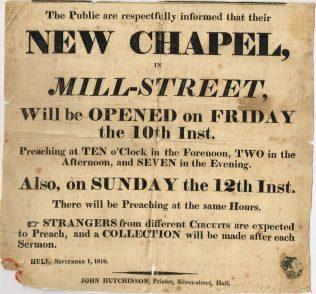Hull Mill Street Primitive Methodist Chapel (later West St) | Englesea Brook Museum