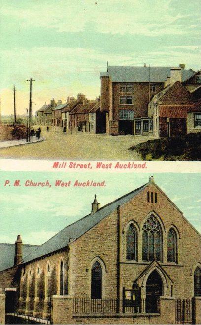West Auckland Primitive Methodist Church, Co Durham | postcard belonging to Steven Wild