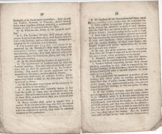 Minutes of a Meeting held at Nottingham, August 1819