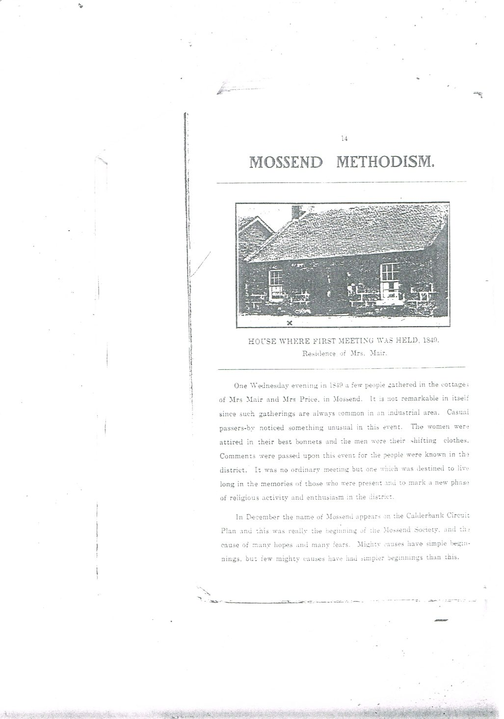 Mossend Primitive Methodist Chapel