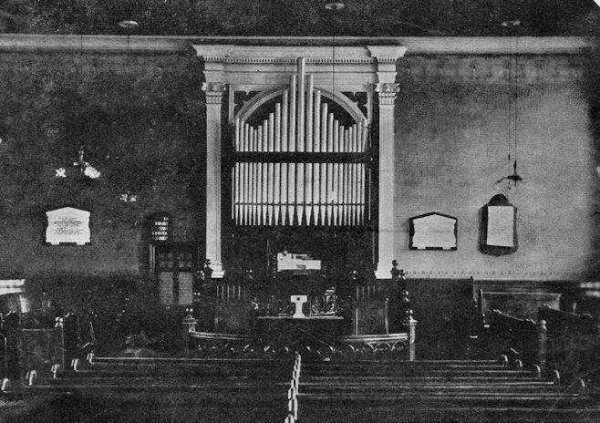 Interior, Murton PM Chapel, Co. Durham | Newcastle upon Tyne District Archives