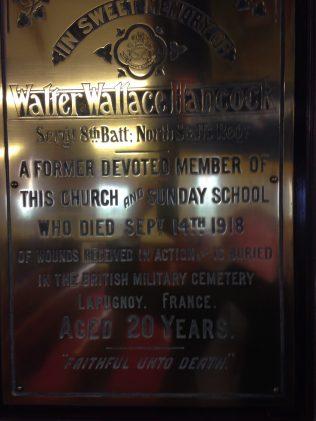 Memorial in Mow Cop Methodist Church | Peter Barber, 26 May 2014