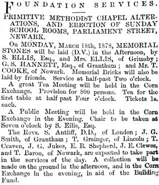 Newark Herald 16 March 1878