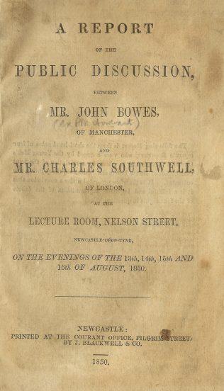 Bowes, John  (1804-1874) | Englesea Brook Museum