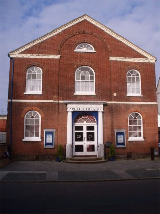 The Apollo Theatre on Pyle Street - the former Wesleyan Methodist chapel - see the comment below.  | https://www.apollo-theatre.org.uk/the-theatre/