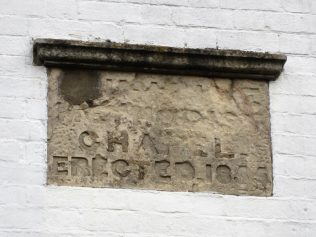 datestone at former Northend Primitive Methodist chapel | Anne Langley 2017