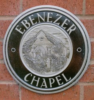 Plaque depicting original Norton Wood Chapel | R Beck