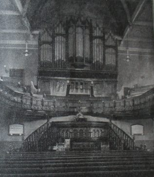 interior of Nottingham Canaan Primitive Methodist chapel | Handbook of the Primitive Methodist Conference 1916; Englesea Brook Museum