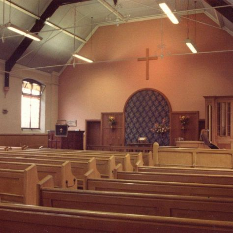 interior of Nottingham Road chapel, Loughborough | Jeff Buckley