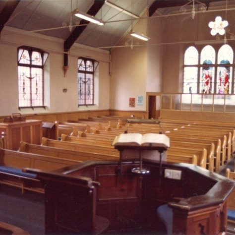 Nottingham Road, Loughborough, Primitive Methodist chapel from the pulpit | Jeff Buckley