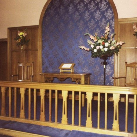 Nottingham Road Loughborough Primitive Methodist chapel communion table and rail | Jeff Buckley