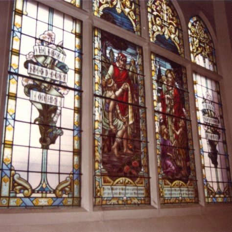 stained glss window Nottingham Road Loughborough Primitive Methodist chapel | Jeff Buckley