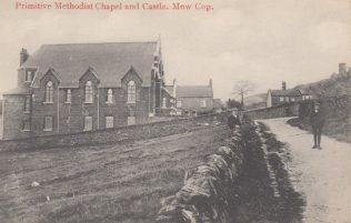 Mow Cop Primitive Methodist Memorial Chapel 1860 | Postcard supplied by Geoff Dickinson