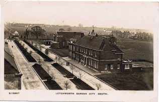 Letchworth PM chapel in 1921, seen beyond the town's police station | Letchworth Garden City Society