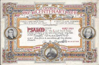 Centenary ticket, 1910 | Englesea Brook Museum [ENBM 2006/98]