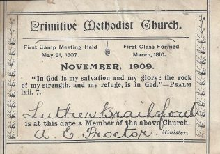 From 1902 tickets bore the word 'Church' instead of 'Connexion' | Englesea Brook Museum