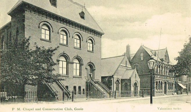 Goole Primitive Methodist Church 1875 | postcard belonging to Steven Wild