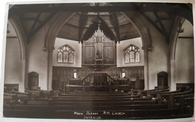 Northampton Park Avenue Primitive Methodist Church | postcard belonging to Revd Steven Wild