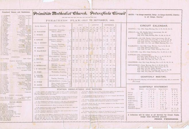 Jul-Sep 1905 | Englesea brook Museum