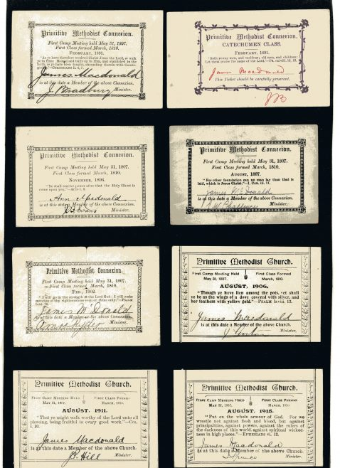 Sheet of membership cards from my family dating back to 1891