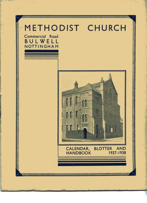 This and the following three photos are extracts from the Commercial Road Methodist's 'Calendar Blotter and Handbook 1937 - 1938', including a brief history of the Chapel.