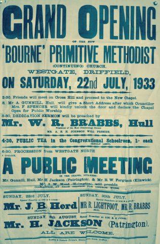 Driffield, Bourne Primitive Methodist Continuing Church