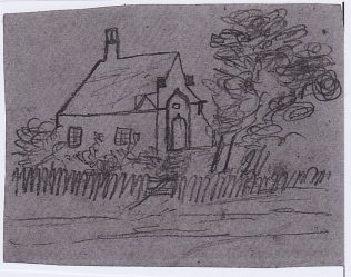 Drawing by Eliza Heesom of the chapel she attended as a child. Is this Welton Chapel? | Nicky Heesom