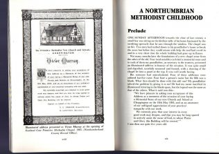 Opening pages Northumbrian Methodist Childhood | J S Murray