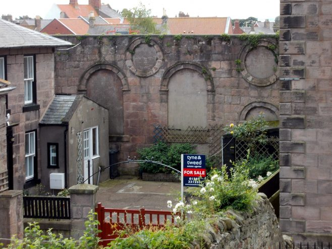 Berwick PM chapel north wall.